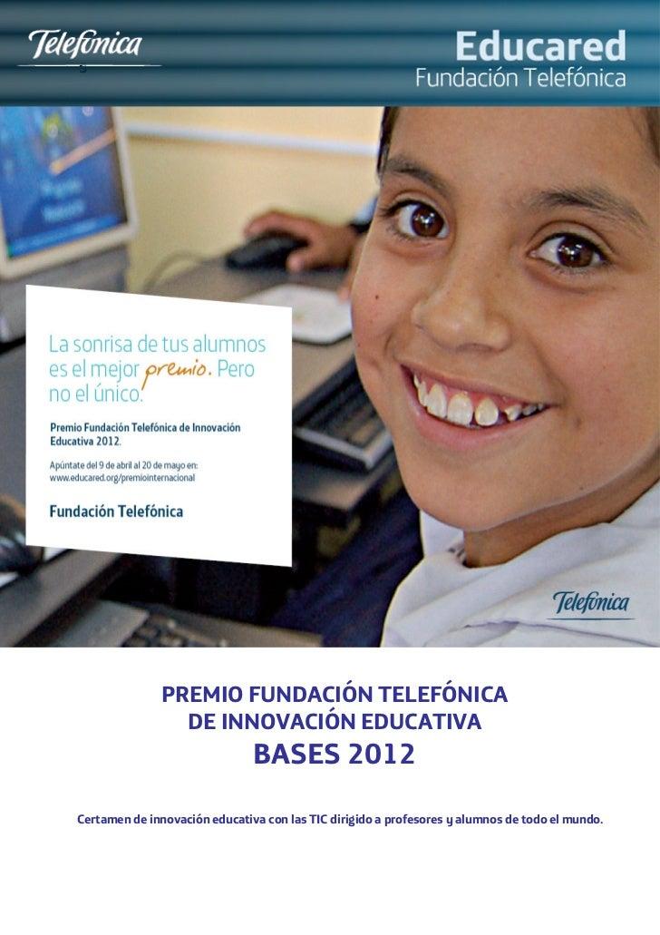 Bases Premio Fundación Telefónica 2012_esp_2