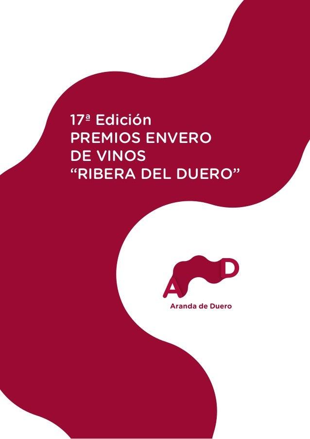 """17ª Edición PREMIOS ENVERO DE VINOS """"RIBERA DEL DUERO"""""""