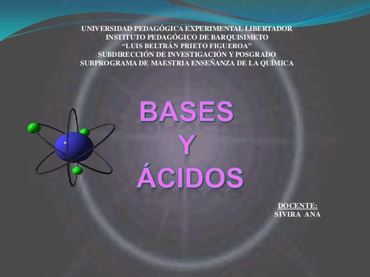 Bases y acidos