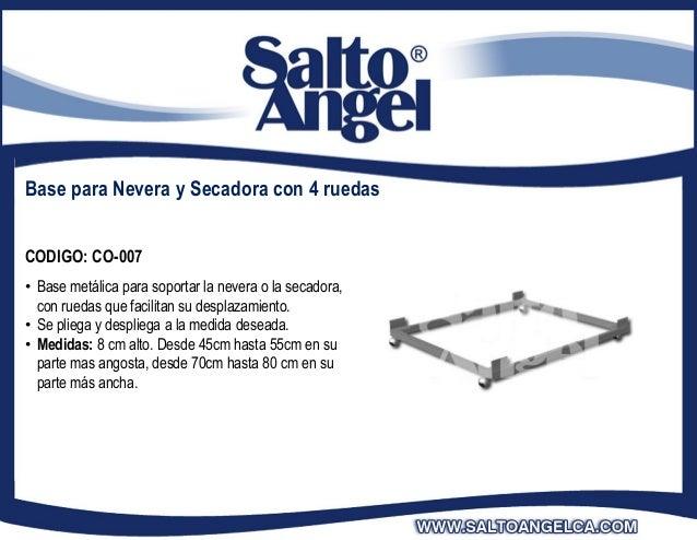 Base para Nevera y Secadora con 4 ruedasCODIGO: CO-007• Base metálica para soportar la nevera o la secadora,  con ruedas q...