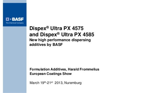 New high performance dispersing additives by BASF
