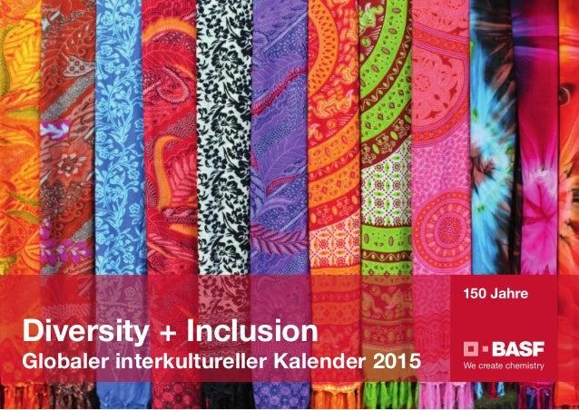 Diversity + Inclusion Globaler interkultureller Kalender 2015