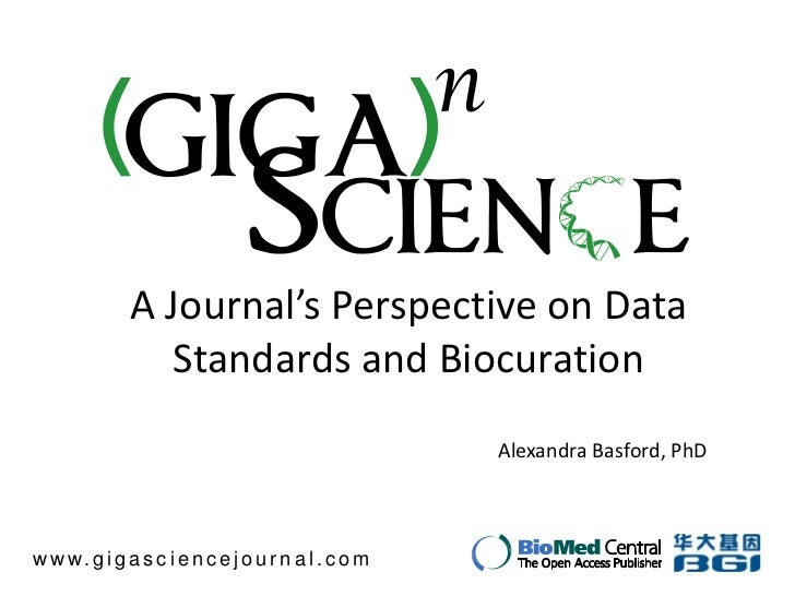 A Journal's Perspective on Data                 Standards and Biocuration                                                 ...