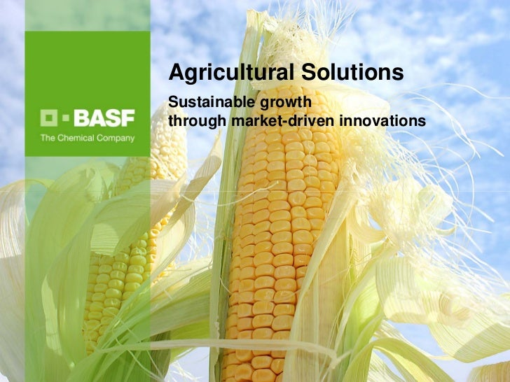 Agricultural SolutionsSustainable growththrough market-driven innovations