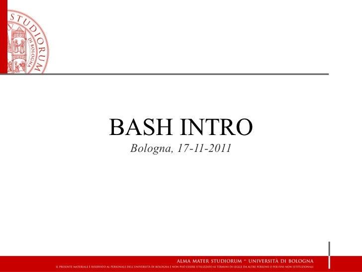 Bash intro