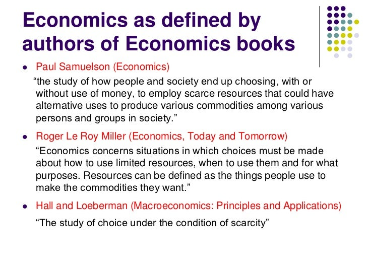 concepts of economics Economics (/ ɛ k ə ˈ n ɒ m ɪ k s, iː or the overlapping concepts of practical and technical monopoly, is an extreme case of failure of.