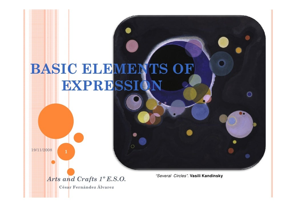 """BASIC ELEMENTS OF    EXPRESSION    19/11/2008                1                                           """"Several Circles""""..."""