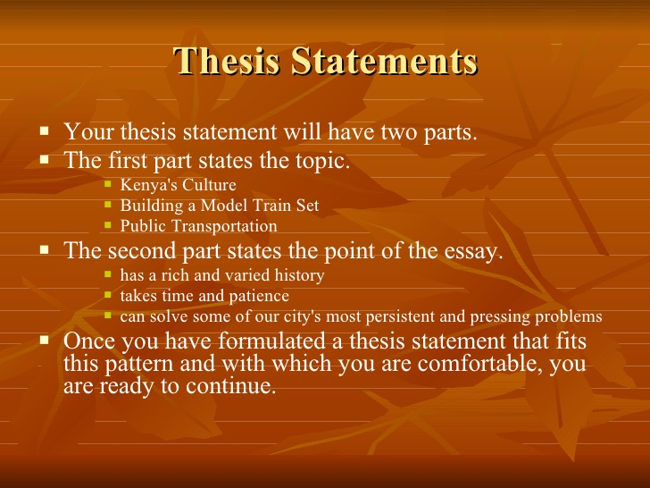 formulating thesis problem