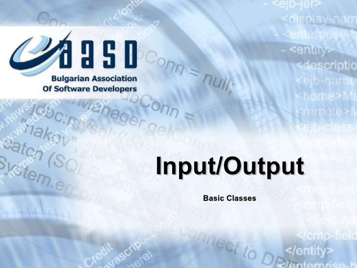 Basic input-output-v.1.1