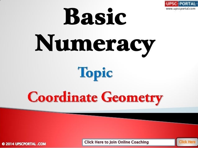 Basic numeracy-coordinate-geometry