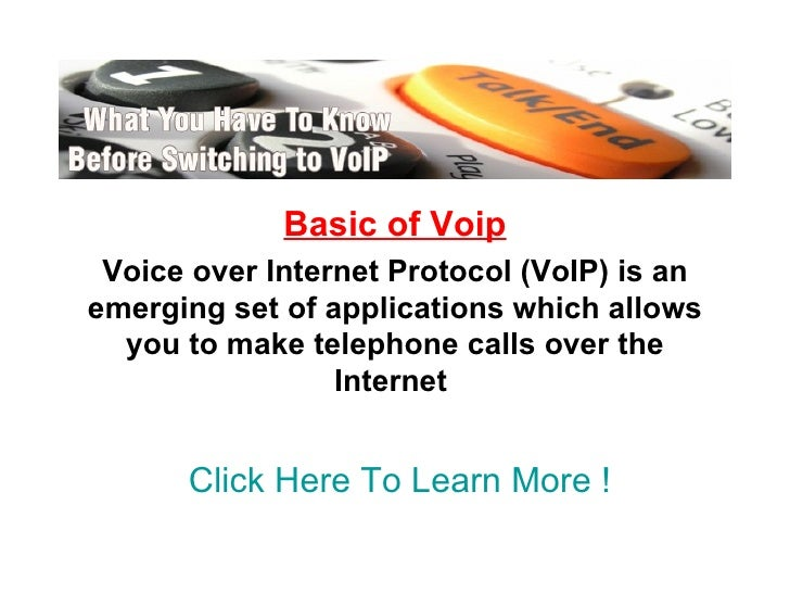 Basic Of Voip .Ppt