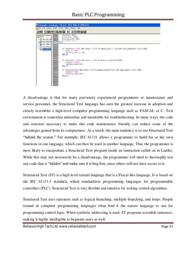 Chart Sfc Programming