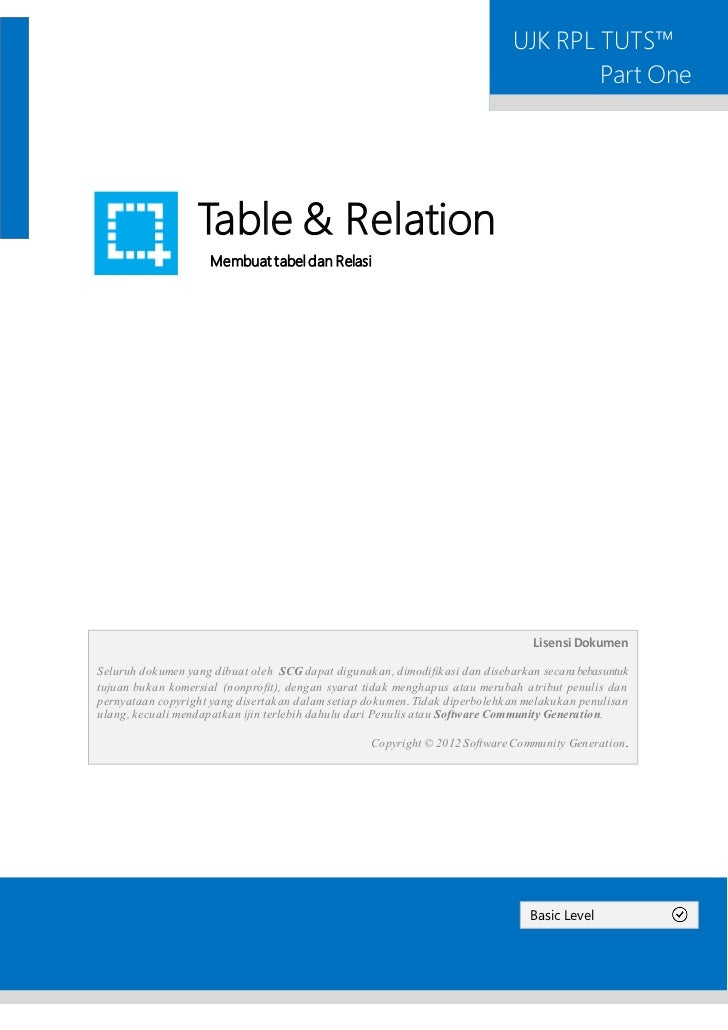 [Basic] 1. table & relation