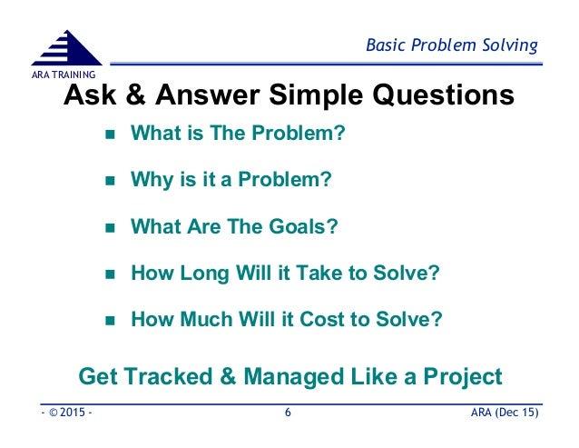 Engineering problem solving method