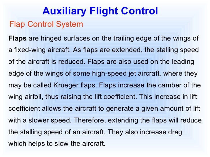Speed Controlled by Aircraft Speed of The Aircraft is