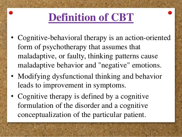 Cognitive-Behavioral Perspectives?