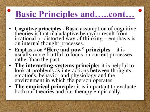 cognitive behavioral therapy investigating irrational thought