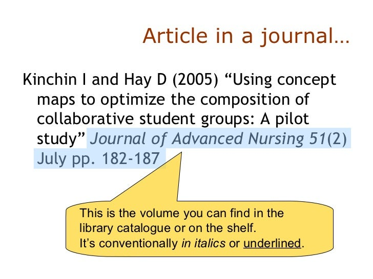 Collaborative Nursing Student Handbook : Basic author date harvard referencing