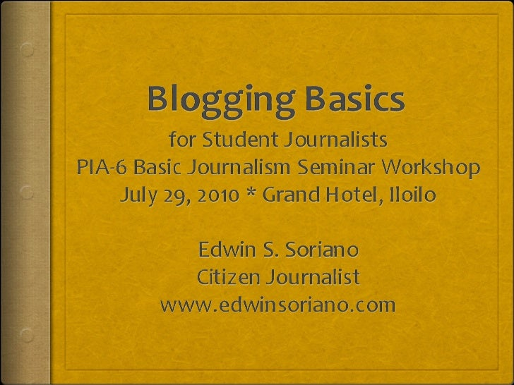Basic blogging for student journalists