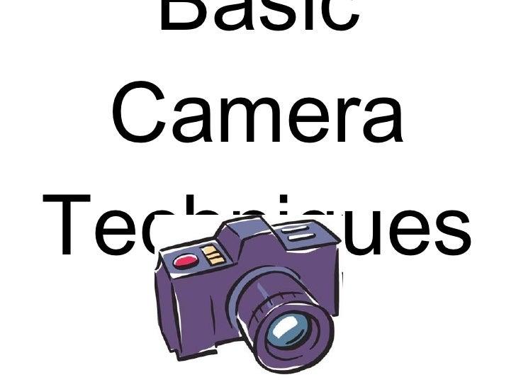 Basic camera shots