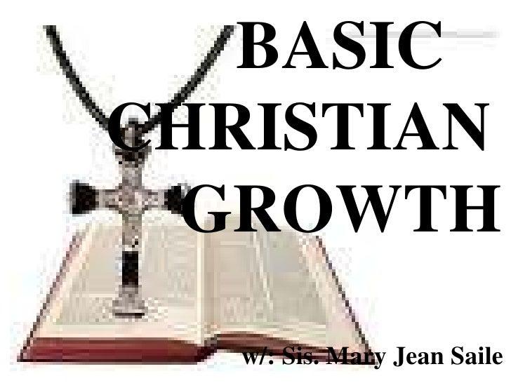 Basic christian growth