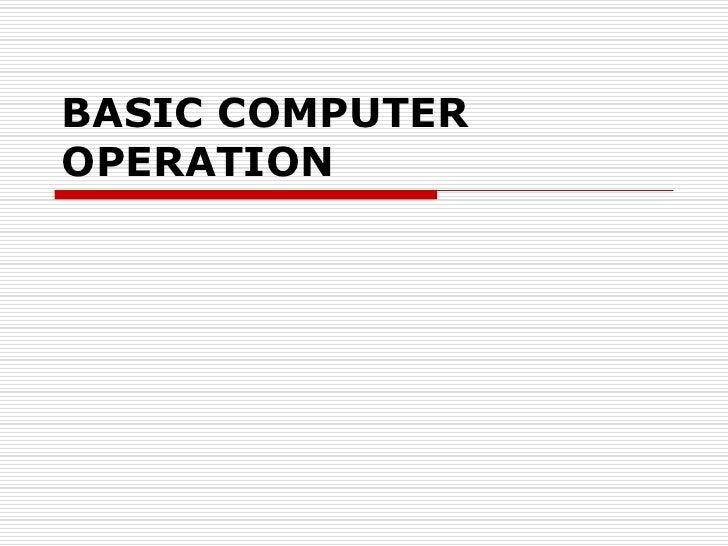Basic comp oper