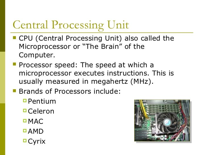 Cpu Unit of Measurement Central Processing Unit Cpu