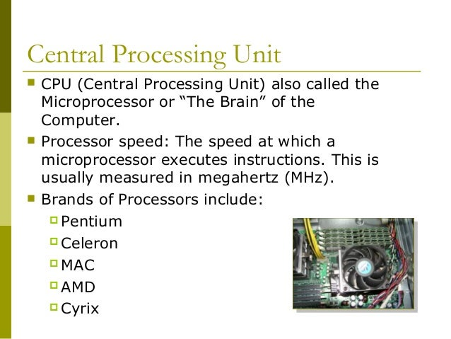 Cpu Unit of Measurement Central Processing Unit  Cpu