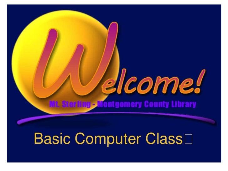 Basic Computer Class
