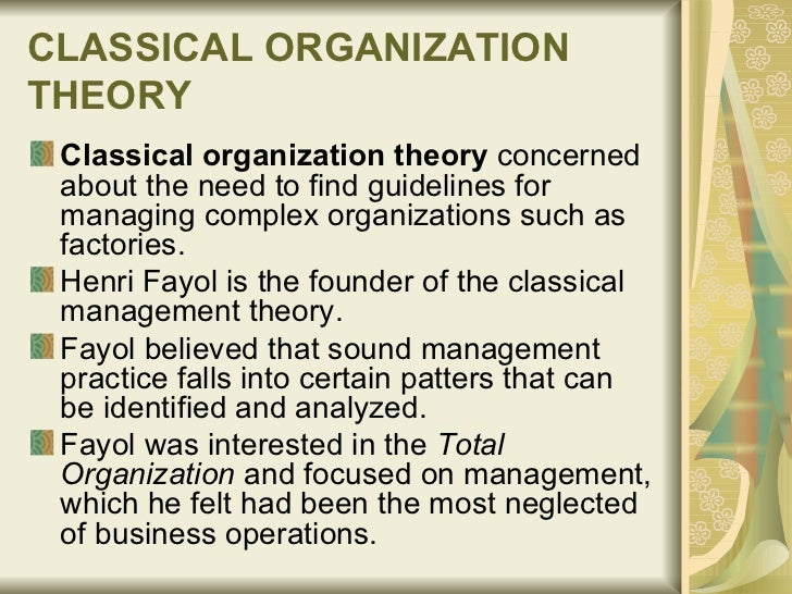 how organizational theory underpins the practice of management View essay - explain how organizational theory underpins the practice of  management from business business m at london south bank university.