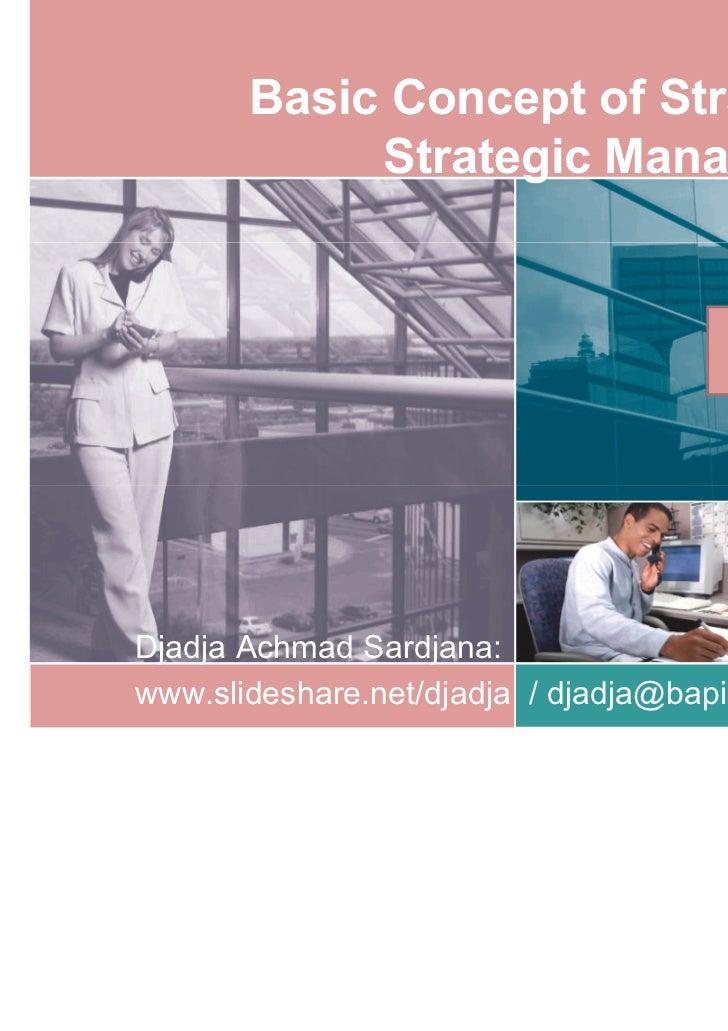 Basic Concept of Strategy &            Strategic Management                                        Clinton                ...