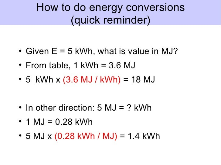 Convert Kwh To Mj Natural Gas