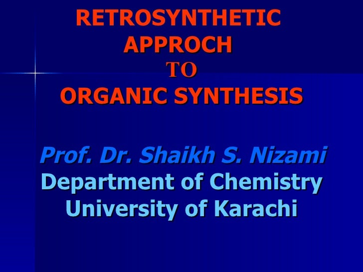 Basic Concepts Of Retrosynthesis (Part1)