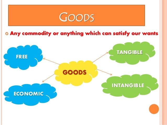 what are economic goods in terms of economics