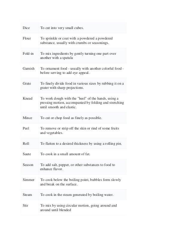 Worksheets Basic Cooking Terms Worksheet basic cooking terms worksheet syndeomedia