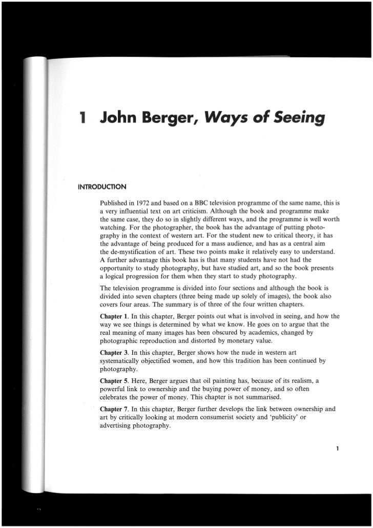 Basic critical theory   ways of seeing