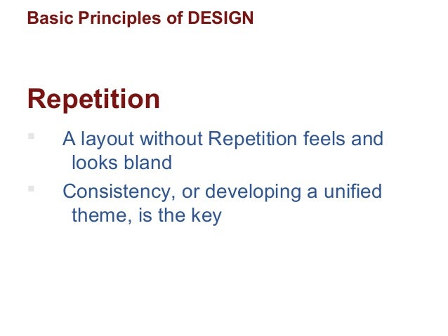 Different Principles Of Design : Ppt pitch basic design principles