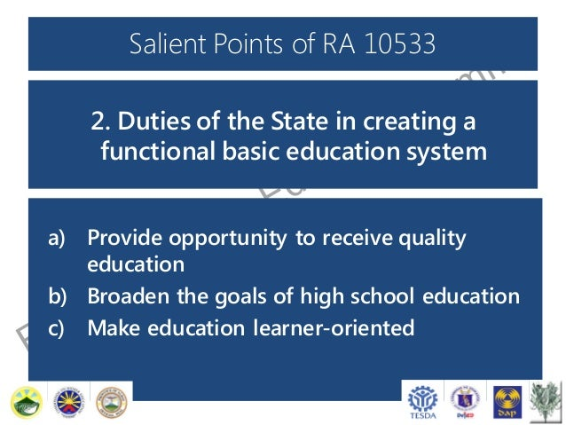 salient points on the enhanced k 12 basic education program An academic search engine that utilizes artificial intelligence methods to provide highly relevant results and novel tools to filter them with ease.