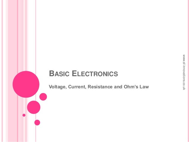 BASIC ELECTRONICSVoltage, Current, Resistance and Ohm's Lawwww.sf-innovations.co.uk