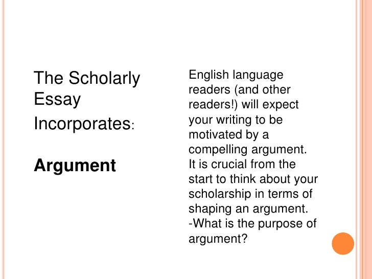 basic features and elements of essay