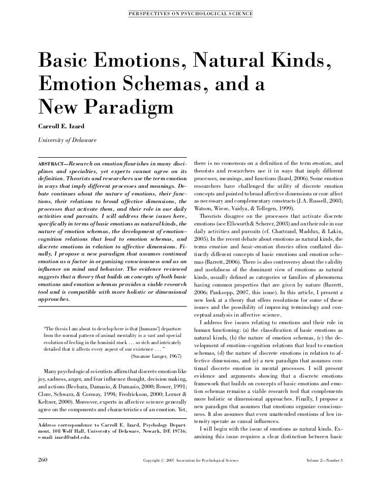 Basic emotions, natural kinds, emotion schemas, and a new paradigm