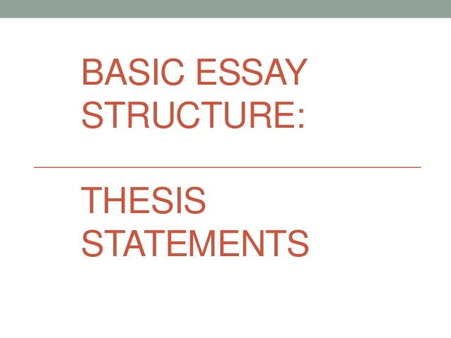Basic thesis statement structure