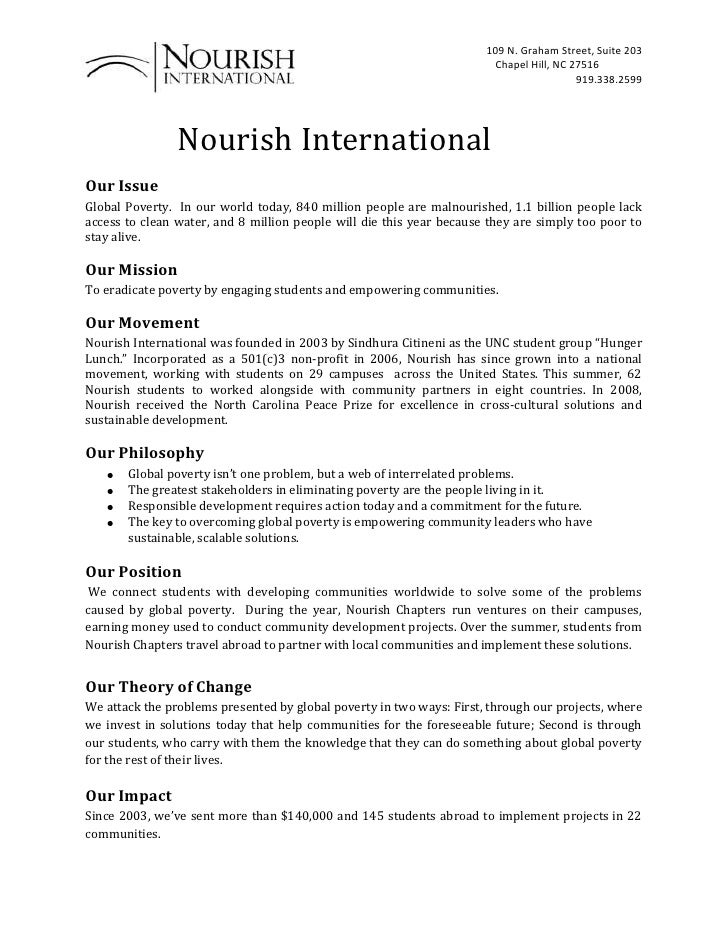 Nourish International<br />Our Issue <br />Global Poverty.  In our world today, 840 million people are malnour...