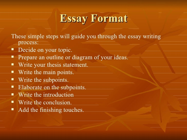 basic principles of writing an essay