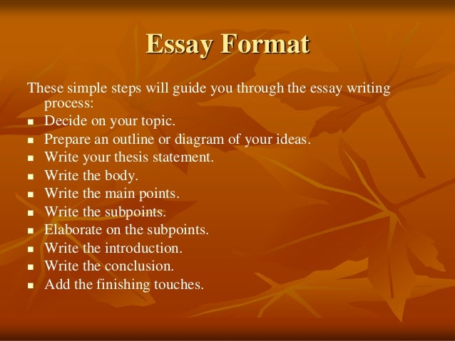 Guide to writing a basic essay