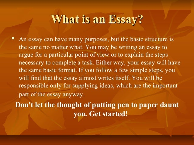 the basics of essay writing Here are simple formulas to write the 5-basic academic essay the 5-paragraph essay is a standard way to write most essays the 5-paragraph essay has an intr.