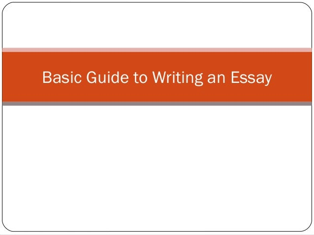 writing an essay guide