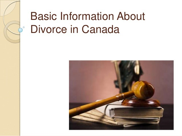 Basic Information About Divorce in Canada