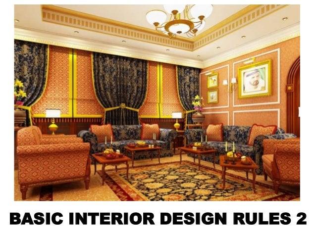 BASIC INTERIOR DESIGN RULES 2