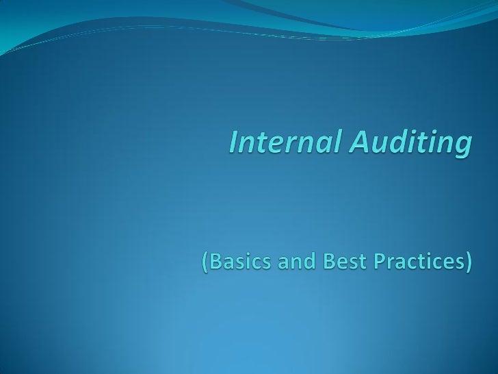 Basic Internal Auditing Presentation